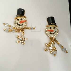 """NEW RARE Lunch at The Ritz Earrings  """"Jack Frost""""NWT for sale"""